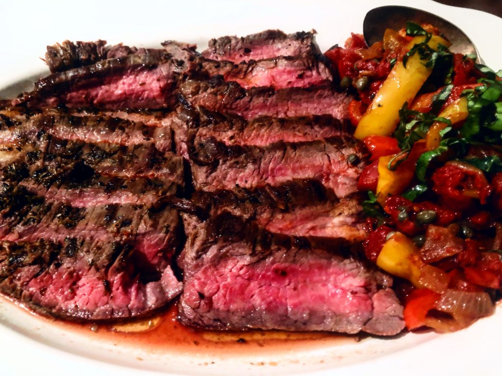 Delicious Healthy Flank Steak Peperonata The 2 Spoons